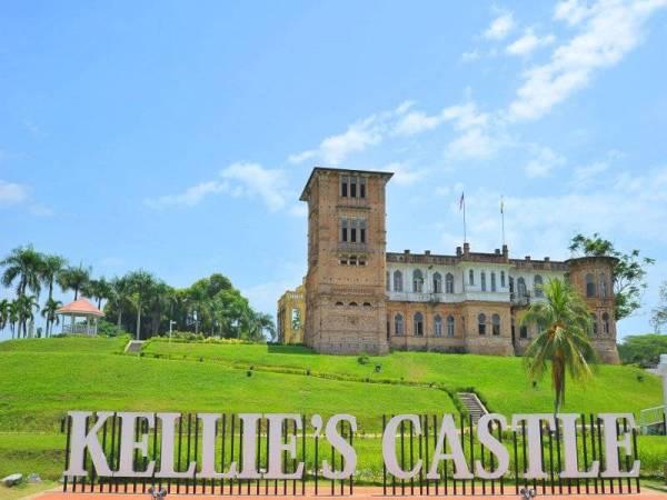 Kellie's Castle yang terletak di Batu Gajah, bangunan bersejarah yang dibina oleh seorang peladang getah dari Britain, William Kellie Smith pada 1910.